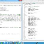 html・cssファイルのウィンドウを左右に並べて表示させ、編集作業の効率アップ!