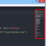 Atomテキストエディタにminimapパッケージをインストールする方法