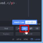 Atomテキストエディタで大文字・小文字を区別して検索する方法