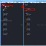 Atomテキストエディタでファイル移動をする方法