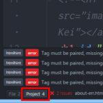 Atomの間違いチェックlinterが表示しているProjectエラー数は、ペイン表示&チェック実行したファイルのみのカウントです。