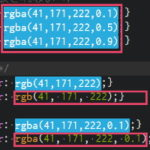 BracketsのColor Highlighter拡張機能プラグインで「透明度が反映されない」「ハイライト表示ができない」ときの対応方法