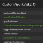BracketsのTabs-Custom Working拡張機能プラグインの使い方 Custom Work設定(Preferences Menu)画面編