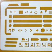 手書きのワイヤーフレームをかっこよくするために、Web型定規を購入しました。