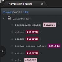 Atomでプロジェクトフォルダ内のcssで使用しているすべての色を検索し、色一覧を出力する方法